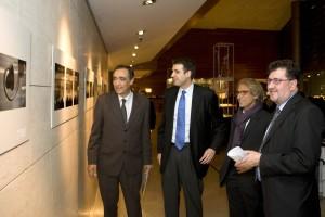 De izquierda a derecha: Josep Rigol, miembro del Jurado; Roger Pallarols Taylor, representante del Ayuntamiento de Barcelona; Josep Juanpere, de GCA Arquitectes, miembro del jurado; y Amancio López Seijas, Presidente del Grupo Hotusa