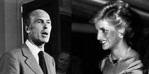 Valéry Giscard d'Estaing and Lady Diana