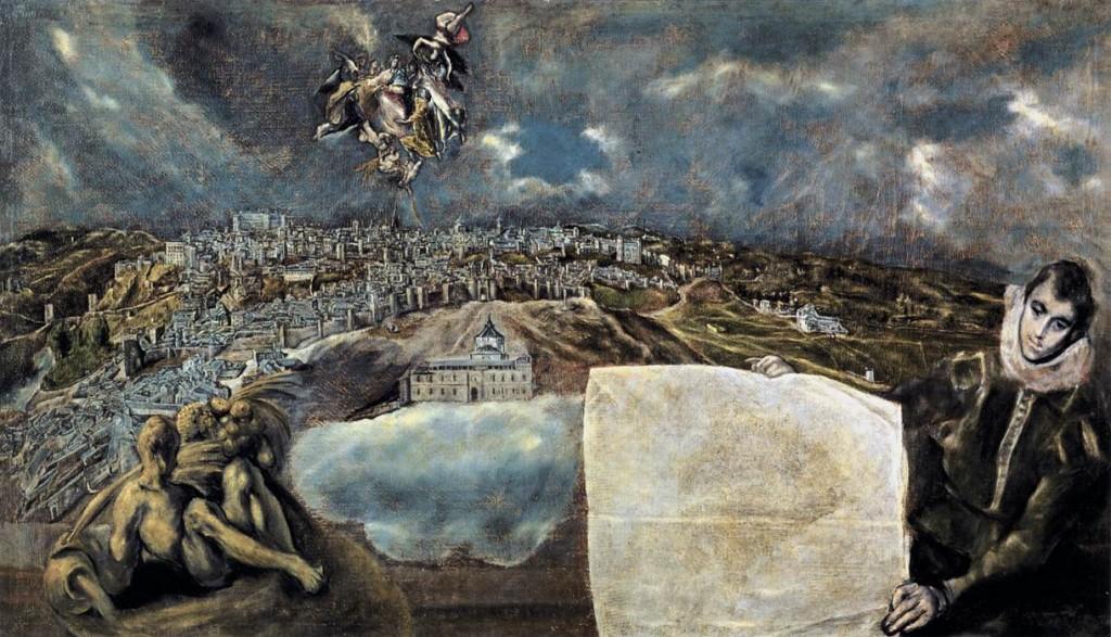 """""""Vista y plano de Toledo"""" (El Greco)"""