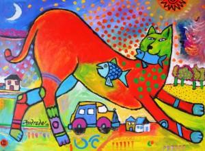"""""""Gato Pinto"""", de Fred Andrade"""