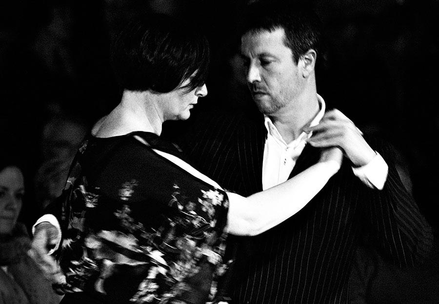 La pareja de tango Silvia Mabel y Suso Parada