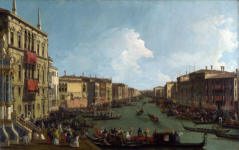 Regata Storica, según el artista Canaletto