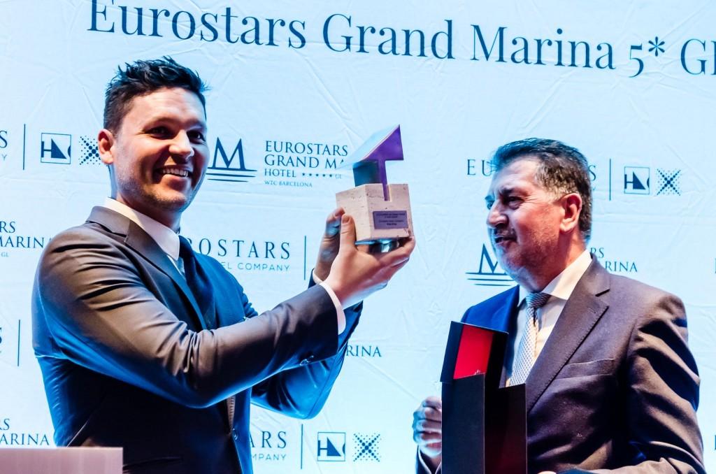 Andrei Zerebecky, ganador del primer concurso Eurostars Hotel Lab junto a