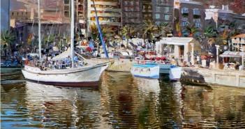 Reflejos en el puerto de Alicante.