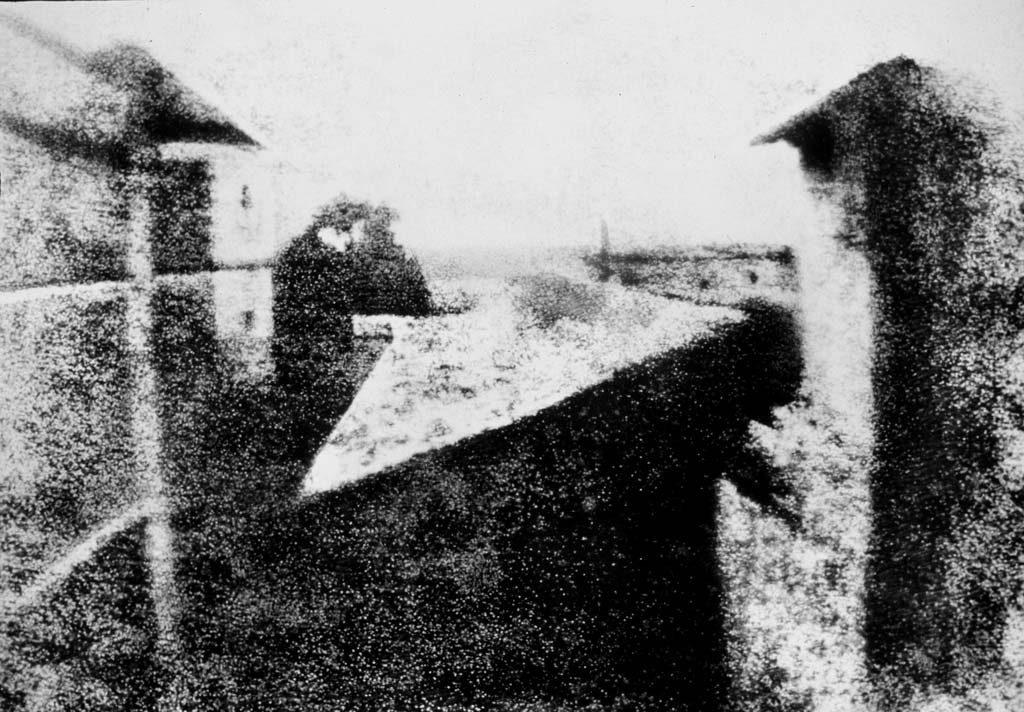 'Vista desde la ventana en Le Gras', de Joseph Nicéphore Niépce