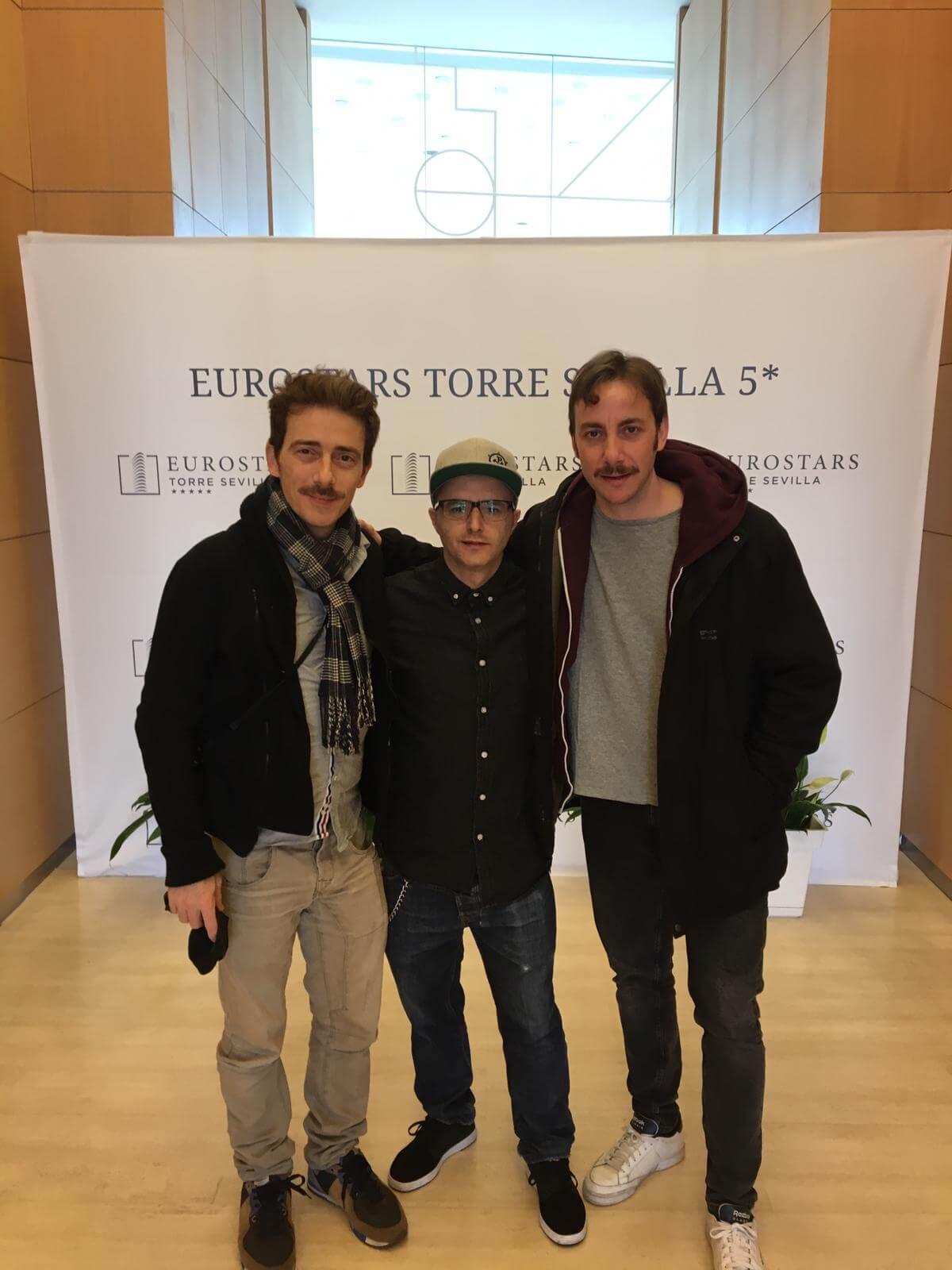 Víctor Clavijo, Darío Paso y Pepe Lorente en el Eurostars Torre Sevilla 5*