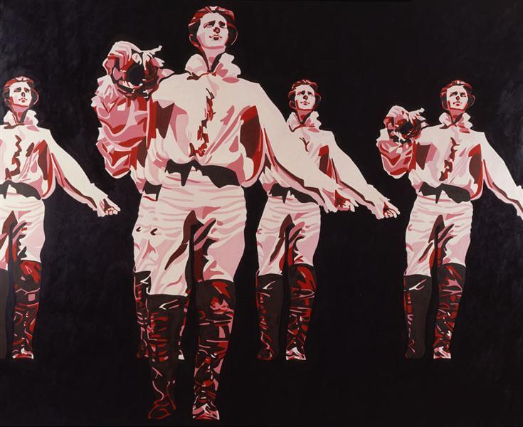Le rouge et le noir dans le prince de Hombourg, 1965 ©Gerard Fromanger